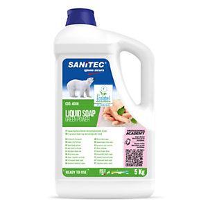 SANITEC Green Power Sapone liquido, Flacone 5 kg