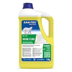 SANITEC IGIENIC FLOOR Detergente pavimenti, Fiori d'Arancio e Bergamotto, Flacone 5 kg