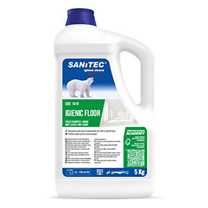SANITEC Igienic Floor Detergente universale concentrato, Foglie di menta e limone, Tanica 5 kg