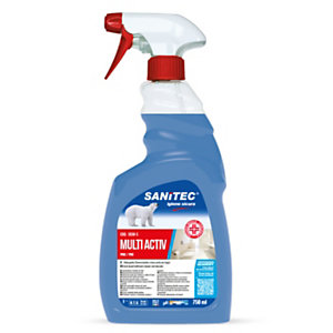 SANITEC MULTI ACTIV BAGNO Disinfettante per superfici, Flacone spray 750 ml