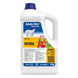 SANITEC Natural Lava frutta e verdura igienizzante con bicarbonato, Tanica 5 kg