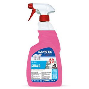 SANITEC SANIALC Detergente alcolico universale, Flacone spray 750 ml