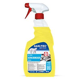 SANITEC SGRASSATORE ULTRA Detergene sgrassatore univerale, Limone, Flacone spray 750 ml