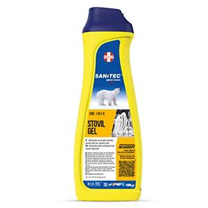 SANITEC STOVIL BAR POWER GEL Tutto in uno Detergente in gel con brillantante per lavastoviglie, Flacone 1000 ml