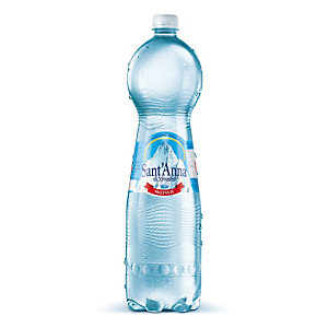 Sant Anna di Vinadio Acqua minerale frizzante, Bottiglia di plastica, 1,5 litri (confezione 6 bottiglie)