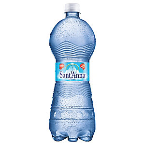 Sant Anna di Vinadio Acqua minerale Frizzante, Bottiglia di plastica, 1 l (confezione 6 bottiglie)