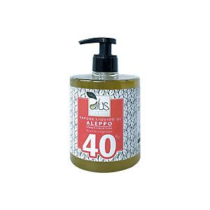 Sapone di Aleppo liquido Alus, 40% olio di alloro, Flacone con dosatore 500 ml