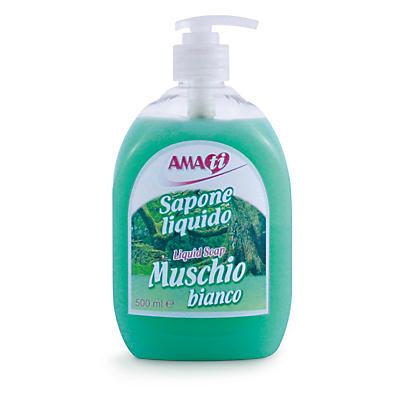 Sapone liquido al muschio bianco