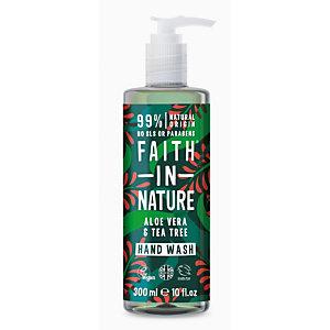 Sapone liquido Aloe Vera & Tea Tree Faith in Nature, Flacone con dosatore 300 ml