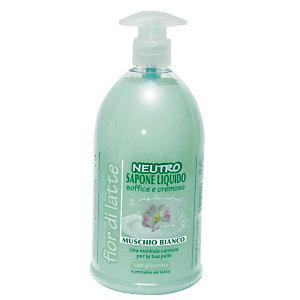 Sapone liquido mani Neutro, Profumazione Muschio Bianco, Flacone con dosatore 1.000 ml