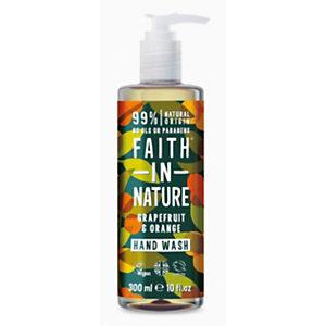 Sapone liquido Pompelmo & Arancio Faith in Nature, Flacone con dosatore 300 ml