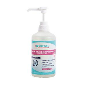Savon liquide désinfectant Wyritol, flacon de 500 ml