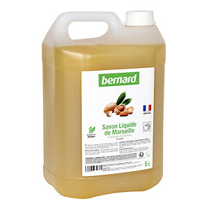 Savon liquide de Marseille Bernard, parfum amande, bidon de 5 L
