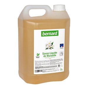 Savon liquide de Marseille Bernard, parfum floral, bidon de 5 L