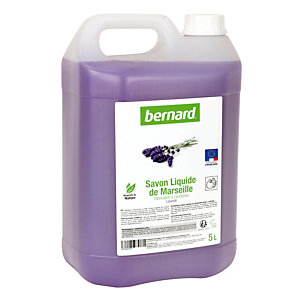 Savon liquide de Marseille Bernard, parfum lavande, bidon de 5 L