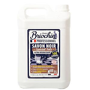 Savon noir ultra-dégraissant spécial sols Briochin, bidon de 5 L