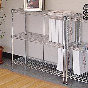 Scaffale in acciaio 3 ripiani, 121 x 35 x 90 cm