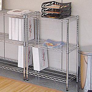 Scaffale in acciaio 3 ripiani, 60 x 35 x 90 cm