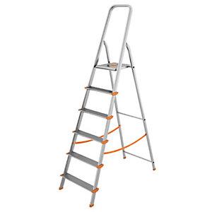 Scala in alluminio a 6 gradini