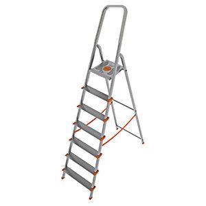 Scala in alluminio a 7 gradini