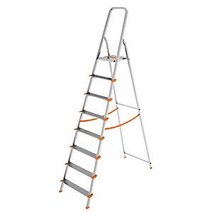 Scala in alluminio a 8 gradini