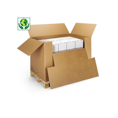 Scatola container in cartone con ribaltina