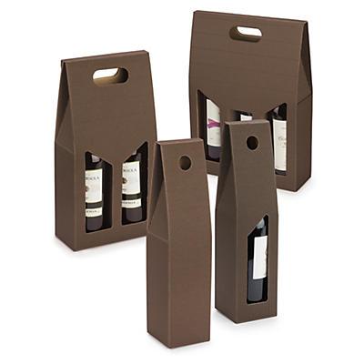 Scatola per bottiglie in kraft marrone