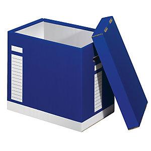 Scatola polivalente, Cartone ondulato, 38 x 26 x 34 cm, Blu (confezione 5 pezzi)