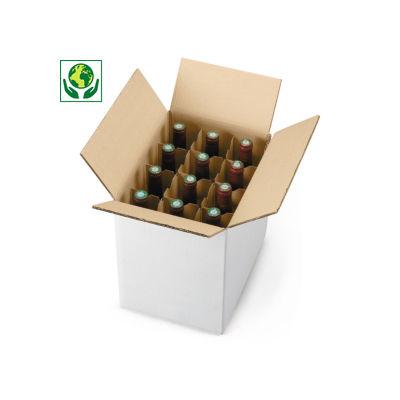 Scatole bianche per spedizione di bottiglie in verticale
