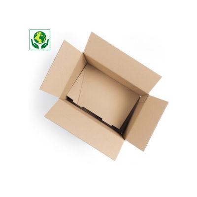 Scatole cartone due onde pallettizzabile con fondo automontante