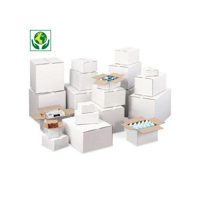 Scatole cartone un'onda bianca RAJABOX