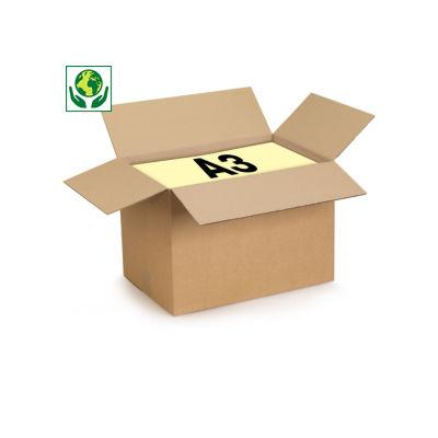 Scatole cartone un'onda RAJABOX formato A3
