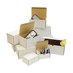 Scatole fustellate, mm 250 x 155 x 140 h, Bianco (confezione 20 pezzi)