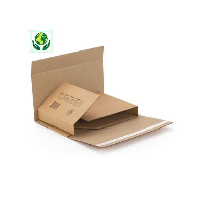 Scatole fustellate per libri con chiusura adesiva ECOBOOK