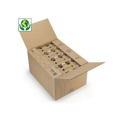 Scatole per spedizione di bottiglie standard e small