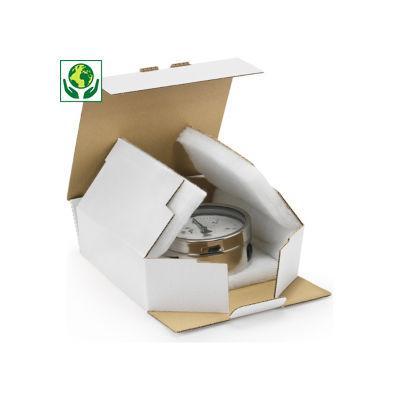 Scatole per spedizioni bianche imbottite in espanso 100% riciclato