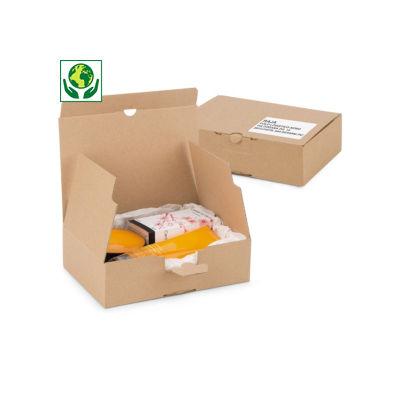 Scatole per spedizioni in cartone microonda con coperchio e fondo automatico