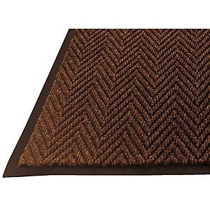 Schrapende droogloopmat 120 x 180 cm met visgraatmotief, Bruin