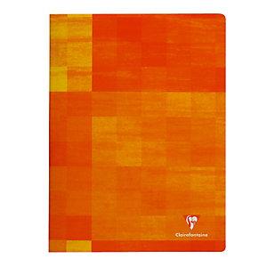 Schrift met doorgestikte inbinding 96 pagina's 17 x 22 Clairefontaine Liniëring seyès 8 x 8 kleur volgens aanvoer