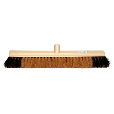 Scopa per pulire in fibra di cocco e PVC per interni ed esterni