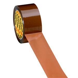 Scotch® 371 Cinta de embalar marrón de uso general de polipropileno de 50 mm x 66 m