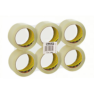 Scotch® 371 Nastro da imballo, 50 mm x 66 m, Polipropilene, Trasparente (confezione 6 rotoli)