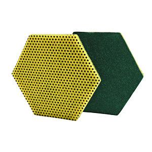 Scotch-Brite Fibra abrasiva a doppia funzione 96HEX, Giallo/Verde (confezione 15 pezzi)