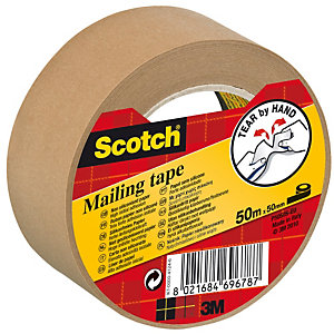 Scotch® Cinta de embalar, papel, 50 mm x 50 m