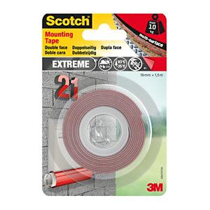 Scotch® Cinta de montaje de espuma adhesiva de doble cara blanco 19 mm x 1,5 m