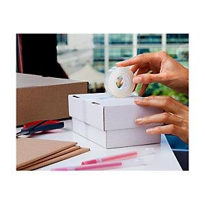 Scotch® Crystal Cinta 600 transparente con acabado brillante 19mm x 33m, paquete de 8