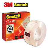 Scotch® Crystal Cinta 600 transparente con acabado brillante 19 mm x 33 m