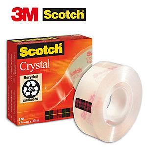Scotch® Crystal Cinta adhesiva 600 transparente con acabado brillante 19mm x 33m