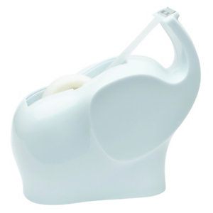 Scotch® Dévidoir de ruban adhésif en forme d'éléphant, blanc