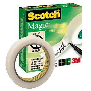 Scotch® Magic™ Cinta adhesiva invisible de oficina, transparente, 19 mm x 66 m